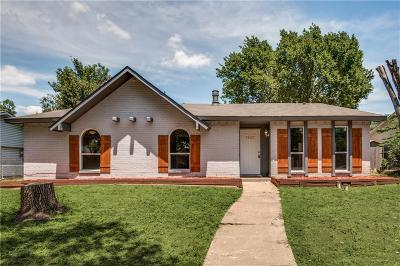 Plano Single Family Home Active Option Contract: 1421 Yellowstone Drive