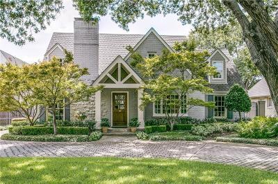 University Park Single Family Home Active Option Contract: 3617 Southwestern Boulevard