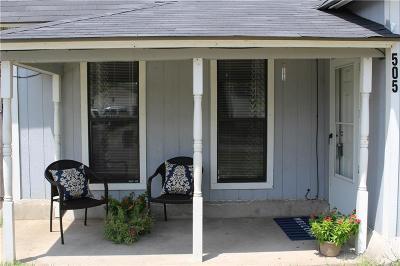 Denton Single Family Home Active Option Contract: 505 Frame Street