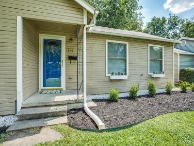 Denton Single Family Home Active Option Contract: 609 Cordell Street