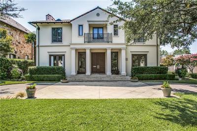 Dallas, Highland Park, University Park Single Family Home For Sale: 3713 Greenbrier Drive