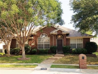 Lewisville Single Family Home Active Option Contract: 1229 Valley Oaks Drive