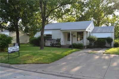 Haltom City Single Family Home Active Option Contract: 3321 Sunday Street