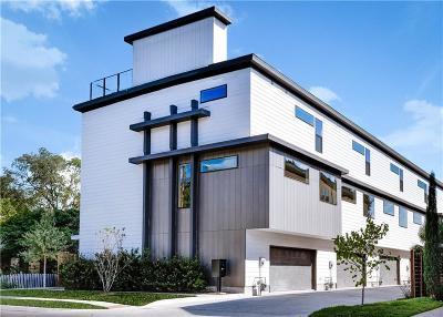 Dallas Townhouse For Sale: 1604 Zoe Place