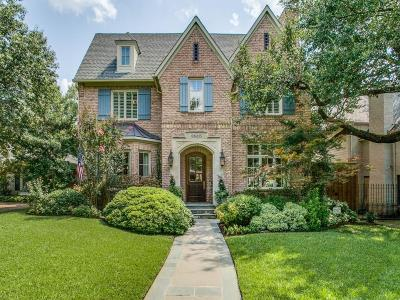 Dallas, Highland Park, University Park Single Family Home For Sale: 2815 Amherst