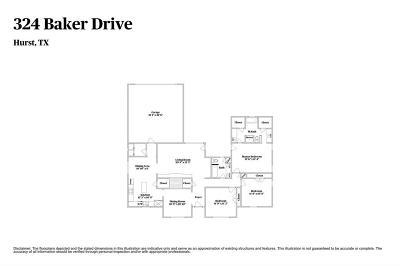 Hurst Single Family Home For Sale: 324 Baker Drive