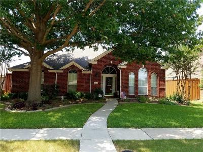 Frisco Single Family Home Active Option Contract: 8213 Sebastian