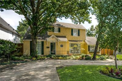 University Park Single Family Home Active Option Contract: 2915 Lovers Lane