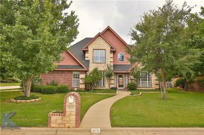 Abilene Single Family Home For Sale: 825 Waters Edge Drive