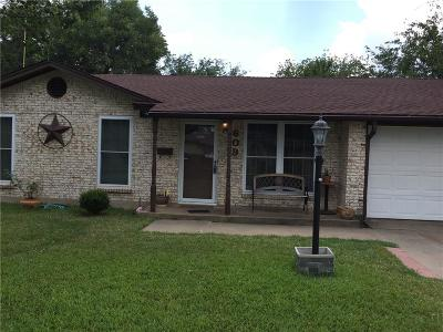Everman Single Family Home Active Option Contract: 609 Kelley Drive