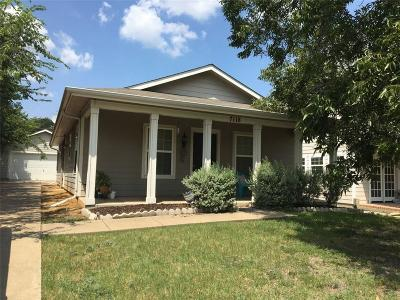Frisco Single Family Home Active Option Contract: 7118 Hickory Street