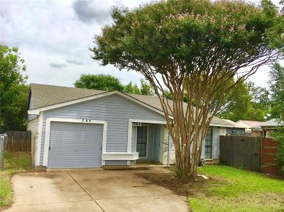 Cedar Hill Single Family Home For Sale: 412 Justice Street