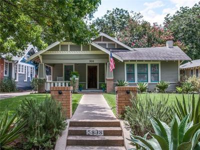 Dallas, Fort Worth Single Family Home For Sale: 5838 Palo Pinto Avenue