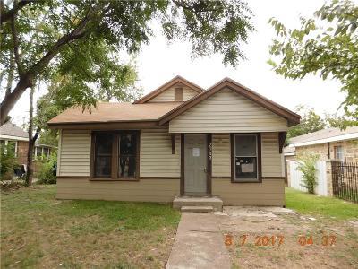 Dallas Single Family Home For Sale: 2743 Bentley Avenue