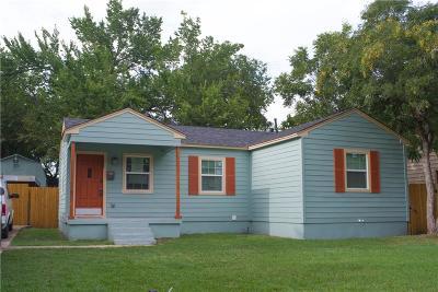 Dallas Single Family Home For Sale: 2309 McAdams Avenue