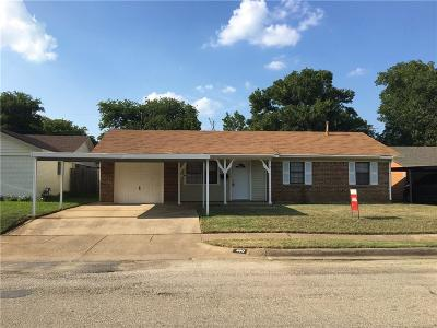 Everman Single Family Home Active Option Contract: 400 Johnson Avenue