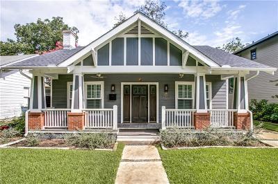 Dallas Single Family Home For Sale: 5455 Vickery Boulevard