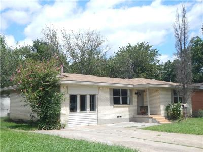 Mesquite Single Family Home For Sale: 1725 Longview Street