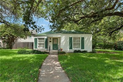 Fort Worth Single Family Home For Sale: 3704 Wildwood Road