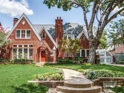 University Park Single Family Home For Sale: 3004 Stanford Avenue