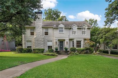 University Park Single Family Home For Sale: 3249 Southwestern Boulevard