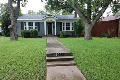 Fort Worth Single Family Home For Sale: 5033 Lovell Avenue