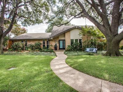 Dallas Single Family Home Active Option Contract: 3488 Webb Garden Drive