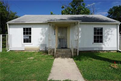 Fort Worth TX Single Family Home For Sale: $66,000