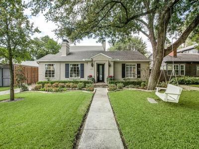 Dallas TX Single Family Home For Sale: $889,000
