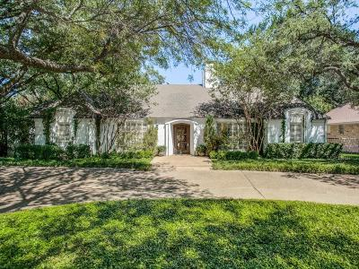 Dallas Single Family Home Active Option Contract: 13228 Hughes Lane