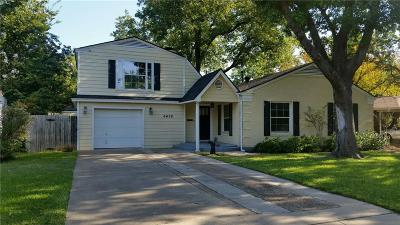 Fort Worth Single Family Home For Sale: 6456 Locke Avenue