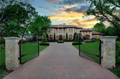 Dallas TX Single Family Home For Sale: $5,795,000