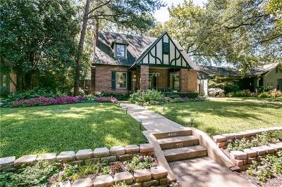 Dallas Single Family Home For Sale: 4433 N Hall Street