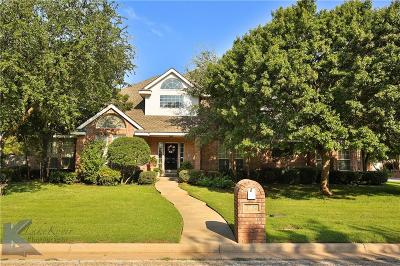 Abilene Single Family Home For Sale: 1702 Lytle Shores Drive