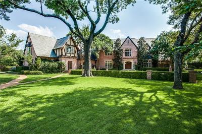 Preston Hollow Single Family Home For Sale: 9400 Meadowbrook Drive