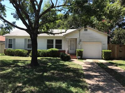 Hurst Single Family Home Active Contingent: 217 Souder Drive