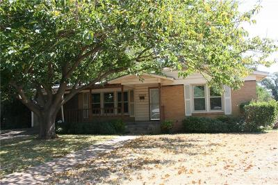 North Richland Hills Single Family Home Active Option Contract: 4600 Vance Road