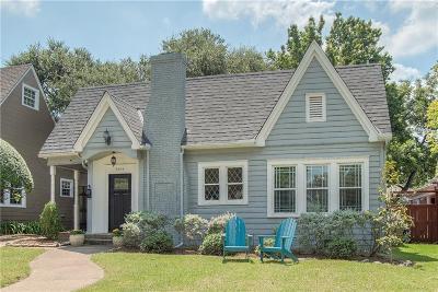 Dallas Single Family Home Active Option Contract: 6204 Belmont Avenue