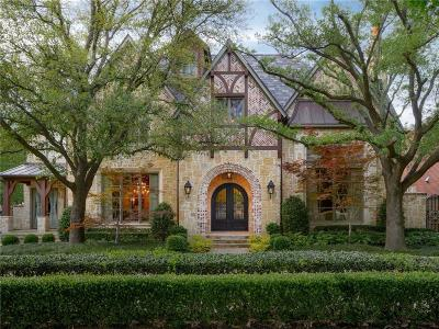 University Park TX Single Family Home For Sale: $5,350,000