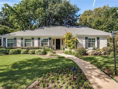 Dallas Single Family Home For Sale: 3915 Fairley Lane