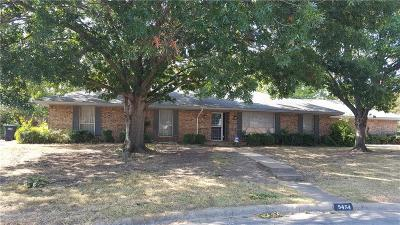 Fort Worth Single Family Home Active Option Contract: 5454 Charlott St