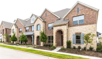 Mckinney Townhouse For Sale: 7120 Huckleberry Drive