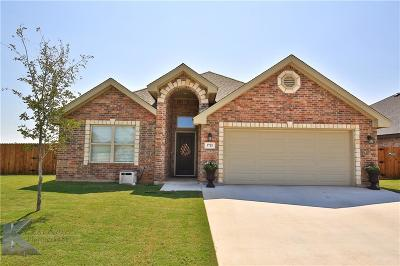 Abilene Single Family Home Active Option Contract: 3725 Bettes Lane