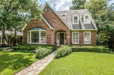 Highland Park, University Park Single Family Home For Sale: 3941 Purdue Avenue