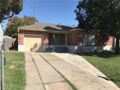 Irving Single Family Home Active Option Contract: 110 Wanda Drive