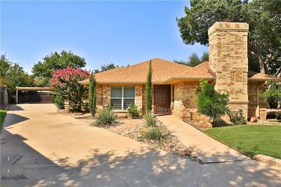 Abilene Single Family Home For Sale: 28 Cherry Hills E