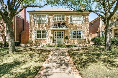 Highland Park, University Park Single Family Home For Sale: 3218 Amherst Avenue
