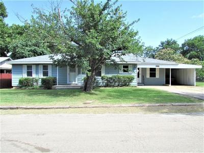 Stephenville TX Single Family Home Active Contingent: $139,500