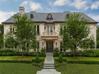 Highland Park TX Single Family Home For Sale: $7,950,000