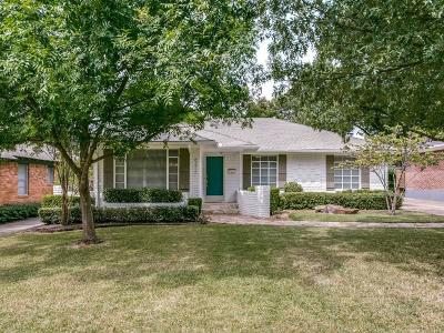 Dallas Single Family Home For Sale: 6211 Marquita Avenue